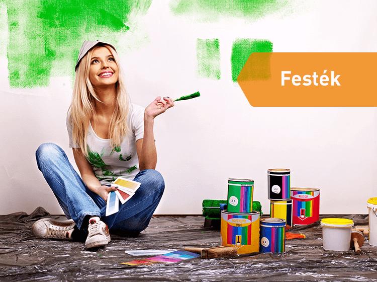 Festékbolt - Pécs - Festék, alapozó, ecset, festőhenger, fólia, minden ami a festéshez kell - Huf-Bau Téglacentrum