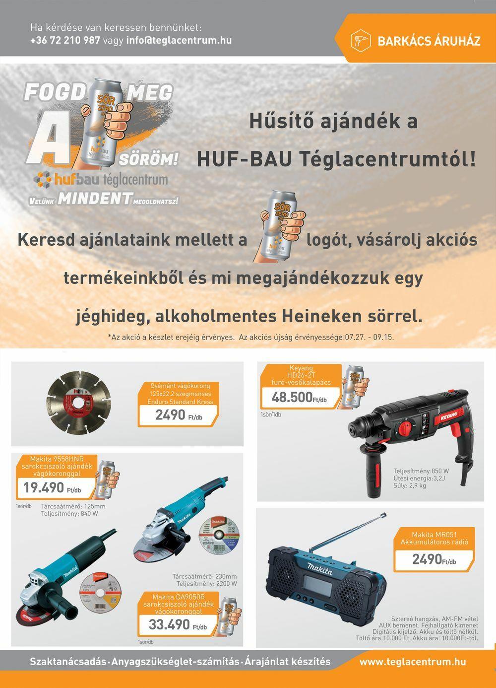 Huf-Bau Téglacentrum - Akciós újság - 2020 nyár