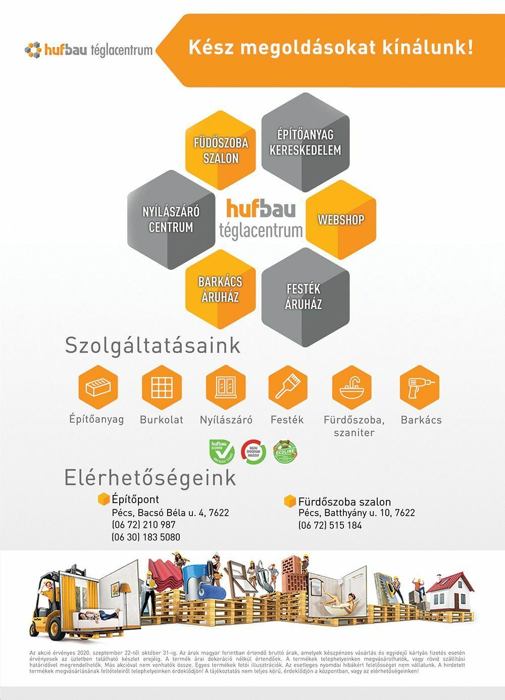 Huf-Bau Téglacentrum - Akciós újság - 2020 ősz