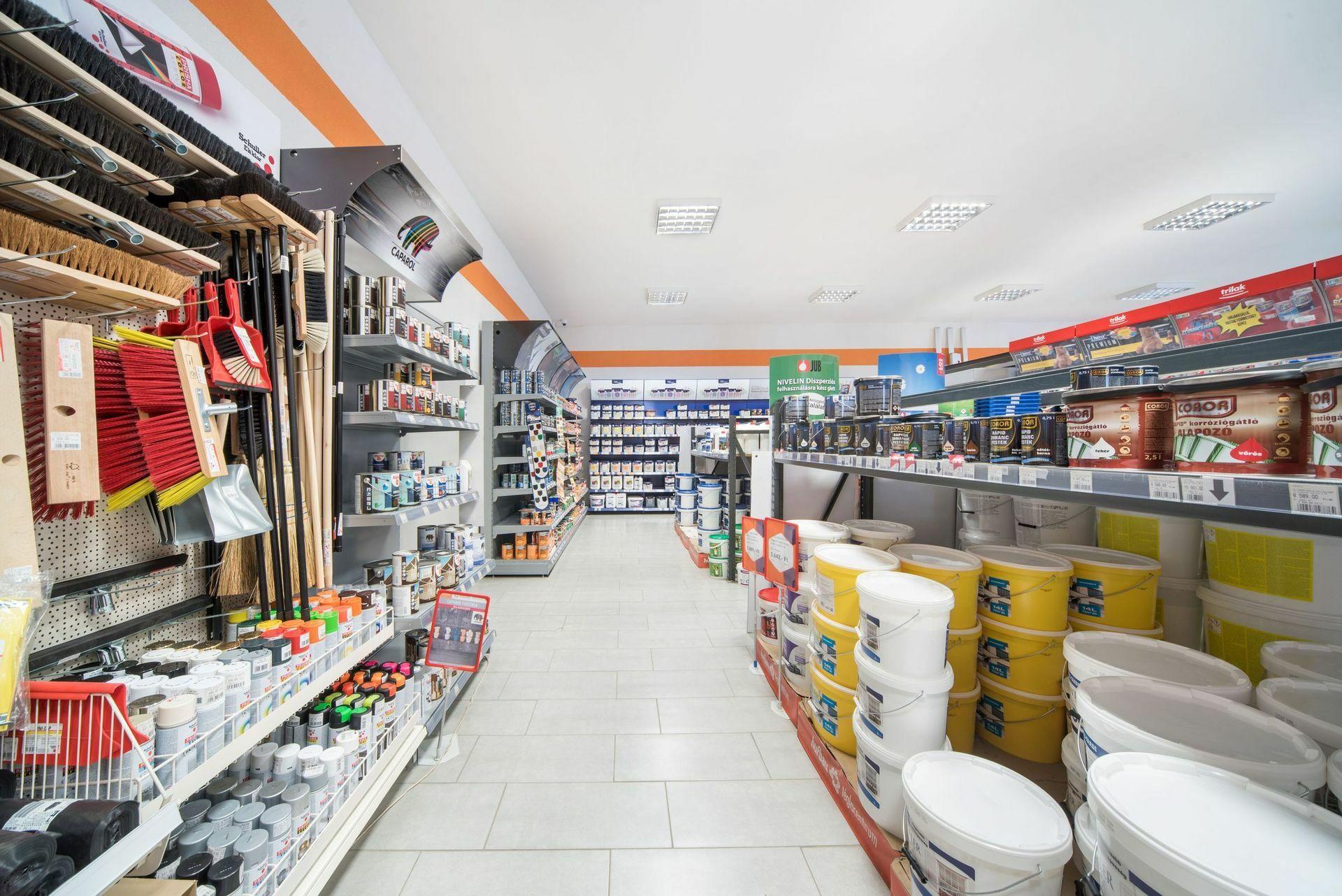 Barkács- és festékáruház - Festékek, alapozók, lakkok, lazúrok, fúgázók, festő- és munkavédelmi eszközök, kiegészítők és szerszámok széles választékban.