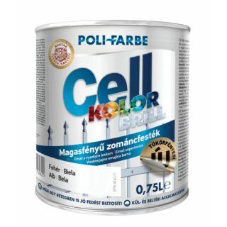 POLI-FARBE Cellkolor Brill Magasfényű zománcfesték barna 0,75l