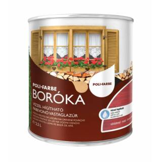 POLI-FARBE Boróka fabevonó lazúr (vörösfenyő) 2,5l