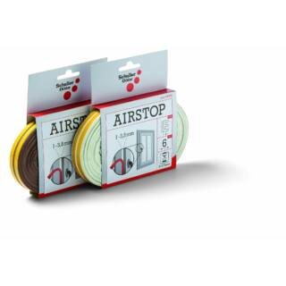SCHULLER Airstop E white tömítőszalag, gumi, 1-3,5mm résmérethez, fehér (44300)