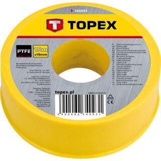 Teflonszalag 15 m gáz Topex (34D093)