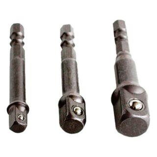 """Adapter készlet 1/4""""bit-1/4"""", 3/8"""", 1/2"""" dugó Extol Craft (32600)"""