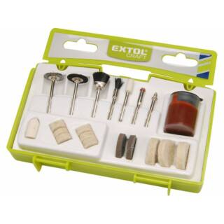 Egyenescsiszolóhoz 3,2mm csiszoló- és polírozó klt 20r Extol Craft (73417)