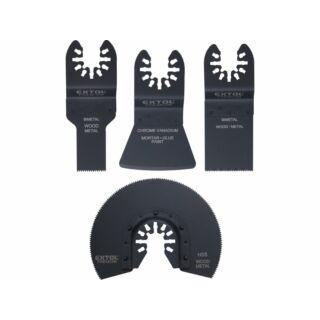 Multigéphez tartozék készlet 4 részes fém/fa/műanyag Extol Premium (8803824)
