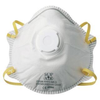 Légzésvédő félálarc FFP1 formázott szelepes pormaszk Supair (GA23106)