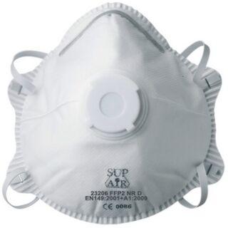 Légzésvédő félálarc FFP2 formázott szelepes pormaszk Supair (GA23206)