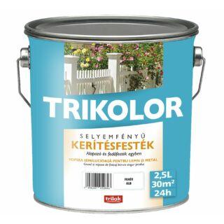 TRILAK Trikolor Selyemfényű Kerítésfesték Fehér 2.5l