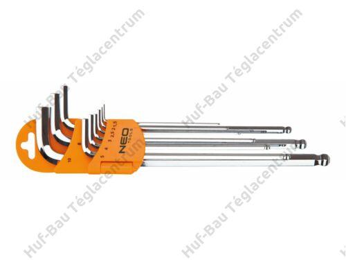Imbuszkulcs klt 1.5-10 mm, 9 részes Neo (09-525)