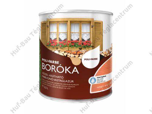 POLI-FARBE Boróka fabevonó lazúr (mahagóni) 2,5l