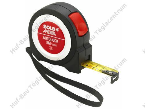 Mérőszalag  5mx19mm fordított működésű Sola (Autolock5)
