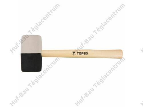 Gumikalapács 63 mm 680 g fek/feh Topex (02A355)