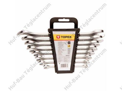 Villáskulcs készlet 6-22mm 8 részes crv Topex (35D656)