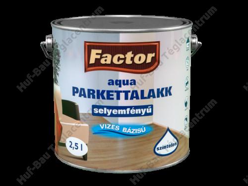 FACTOR Aqua Parkettalakk magasfényű 2,5l