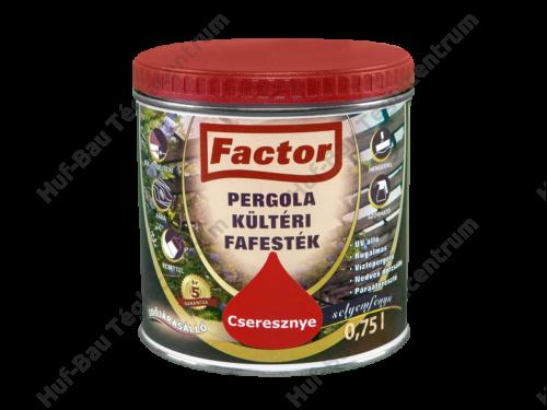 FACTOR Pergola Kültéri Fafesték cseresznye 0,75 l