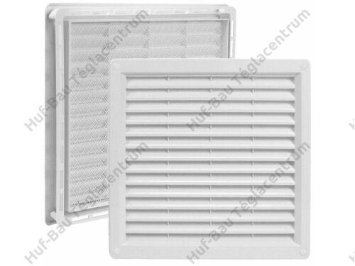 HACO szellőzőrács 150x150mm kerettel zárható fehér műanyag hálós VM 150x150 UB (213)