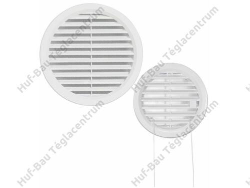 HACO szellőzőrács D125mm fehér műanyag körszellőző hálós VM  125 B (405)