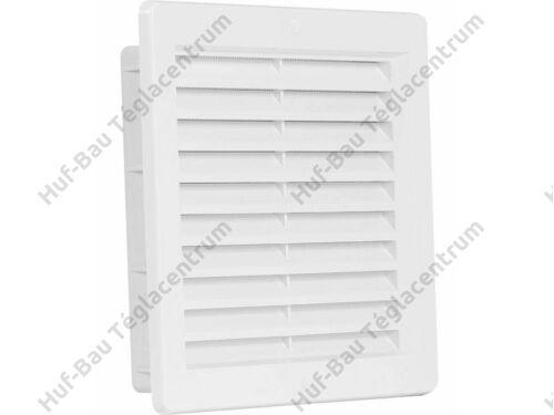 HACO szellőzőrács 250x250mm takaró fehér műanyag hálós VM 250x250 KB (303)