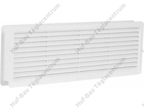 HACO szellőzőrács 400x130mm fehér műanyag ajtószellőző VM 400x130 B (231)