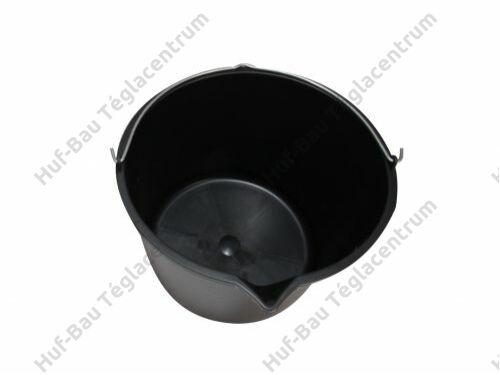 Vödör 12l műanyag kiöntővel fekete Kubala (KUB1500)