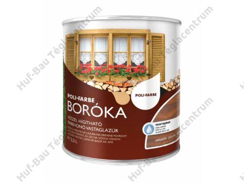 POLI-FARBE Boróka fabevonó lazúr (mogyoró) 2,5l