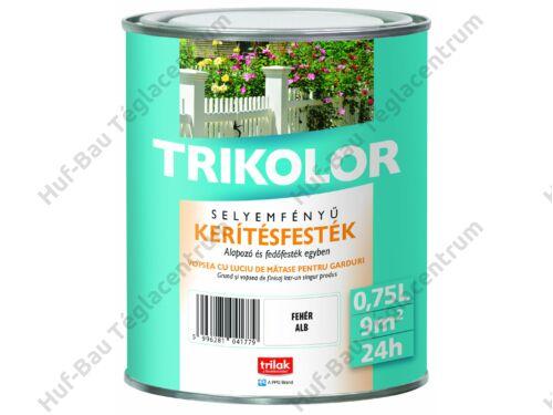 TRILAK Trikolor Selyemfényű Kerítésfesték Fehér 0.75l (320914)